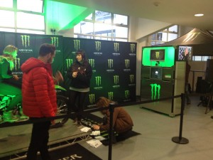 Monster Energy Photo Booth at event