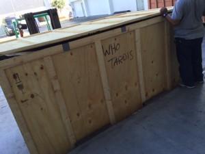 Doctor Who Tardis Shipped to LA
