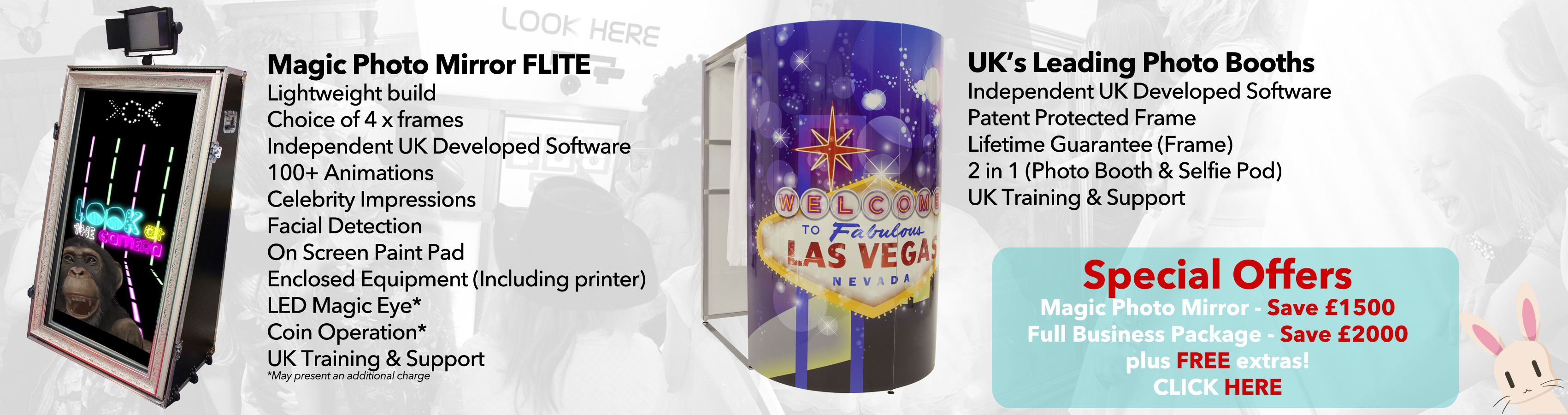 Photo Booths & Magic Mirrors Selfie Mirrors For Sale - Save up to £2000