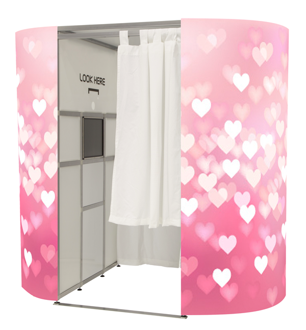 Pink Hearts Photo Booth Skin
