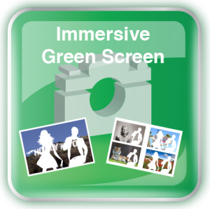 Photobooth Immersive Green Screen Icon