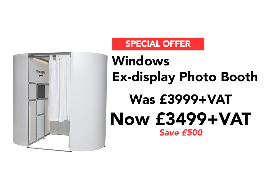 Our Windows ex-display photo booth special offer