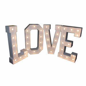 LED Love Letters 4ft Steel