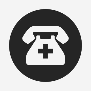 Emergency Call Icon, illustration vector eps , black and line icon
