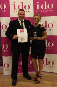 Mark and Debbie celebrate their Award