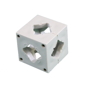 Our patented Connector Blocks, a key part of our patented photo booth systems