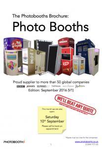 Photobooths Brochure September 2016