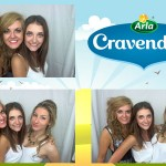 Branded photo booth pictures