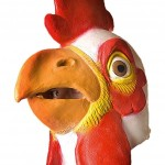 Chicken Mask Photo Booth Prop