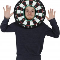 Dart BoardHead Mask Mask Photo Booth Prop
