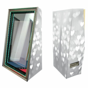 Magic Photo Mirror with Silver Love Hearts Skins