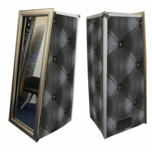 Magic Mirror Booth SE with Black Chesterfield Skins