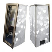 Magic Mirror Booth SE with Silver Love Heart Skins