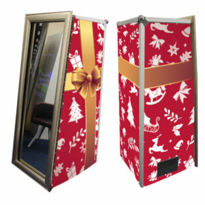 Magic Mirror Booth SE with Red Xmas Gift Skins