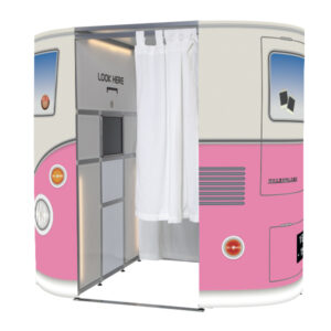 Pink VW Campervan Photo Booth Skins