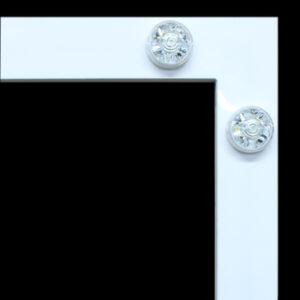 White Hollywood LED Magic Mirror frame from Photobooths.co.uk
