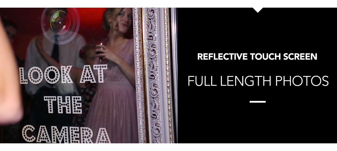 Magic Photo Mirror - Reflective touch screen. Full Length Photos