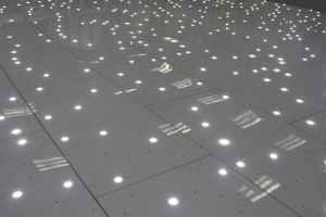 White LED Sparkling Dance Floor