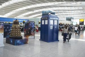 Doctor Who Tardis at Heathrow Airport
