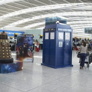 Doctor Who Tardis at Heathrow Airport