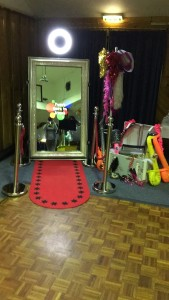 One of our magic mirrors in use at a wedding