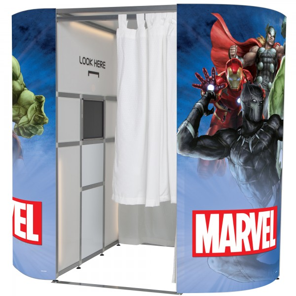 Marvel Avengers photo booth skin