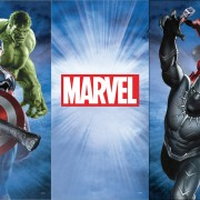 Marvel Avengers photo booth skin – full view