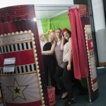 A photobooth.co.uk photo booth in action at an event