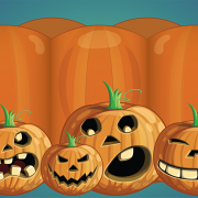 Our Halloween pumpkin photo booth skin