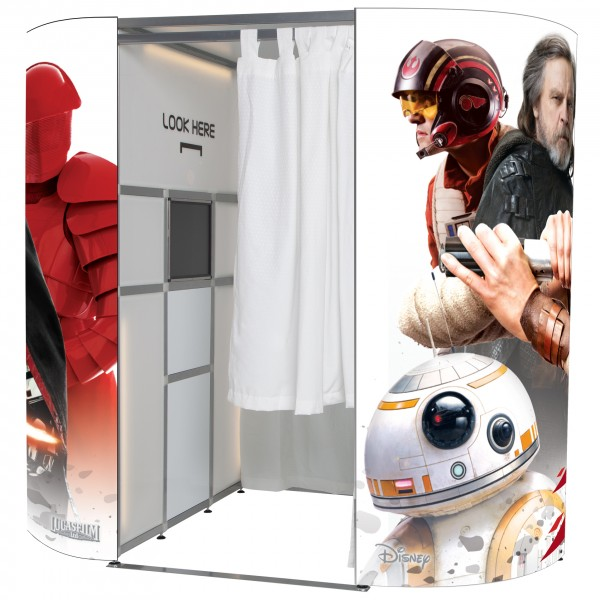Star Wars photo booth skin - full view