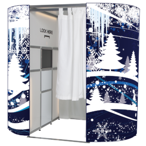 Our newest Christmas photo booth skin - blue snow