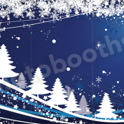 Blue snow Christmas photo booth skin