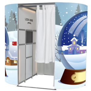 blue snow christmas photo booth skin full 2