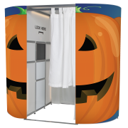 Halloween pumpkin photo booth skin