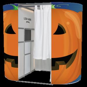 Halloween pumpkin photo booth skin