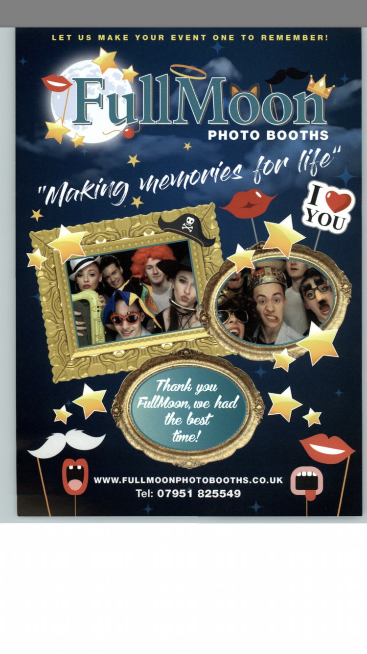 Full Moon used photo booth on sale - full established business for sale