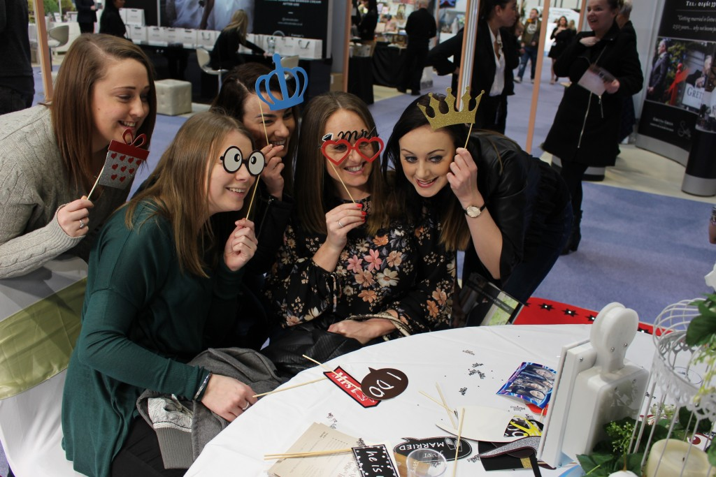 table selfie touch at the nec wedding show