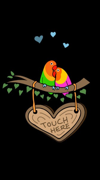 Magic Mirror Flash Animation: Love Birds Touch Here