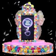 Happy Birthday table selfie set up